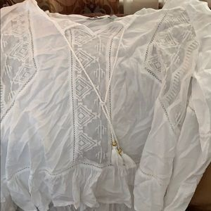 Long sleeve tribal blouse